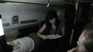May 14 - Getting ready for bed in the bus