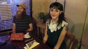 May 17 - Eating at the Acoustic Coffeehouse in Johnson City, TN before our show