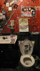 Milestone's authentic punk-rock bathroom - ::tear:: - Charlotte, NC